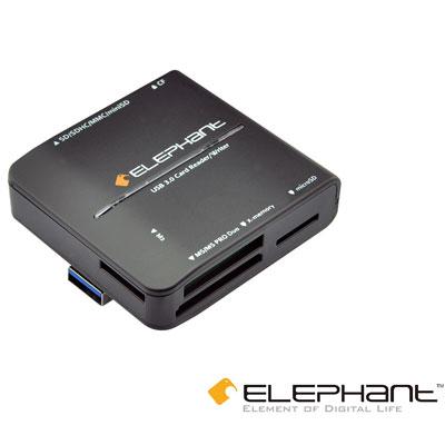 ELEPHANT USB3.0高速多功能讀卡機-黑(WER-1013BK)