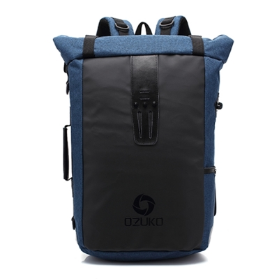OZ1403 BU藍色 15.6吋都會尼龍筆電包