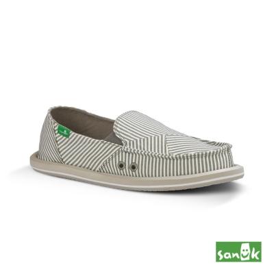 SANUK 不規則線條懶人鞋-女款(灰白色)