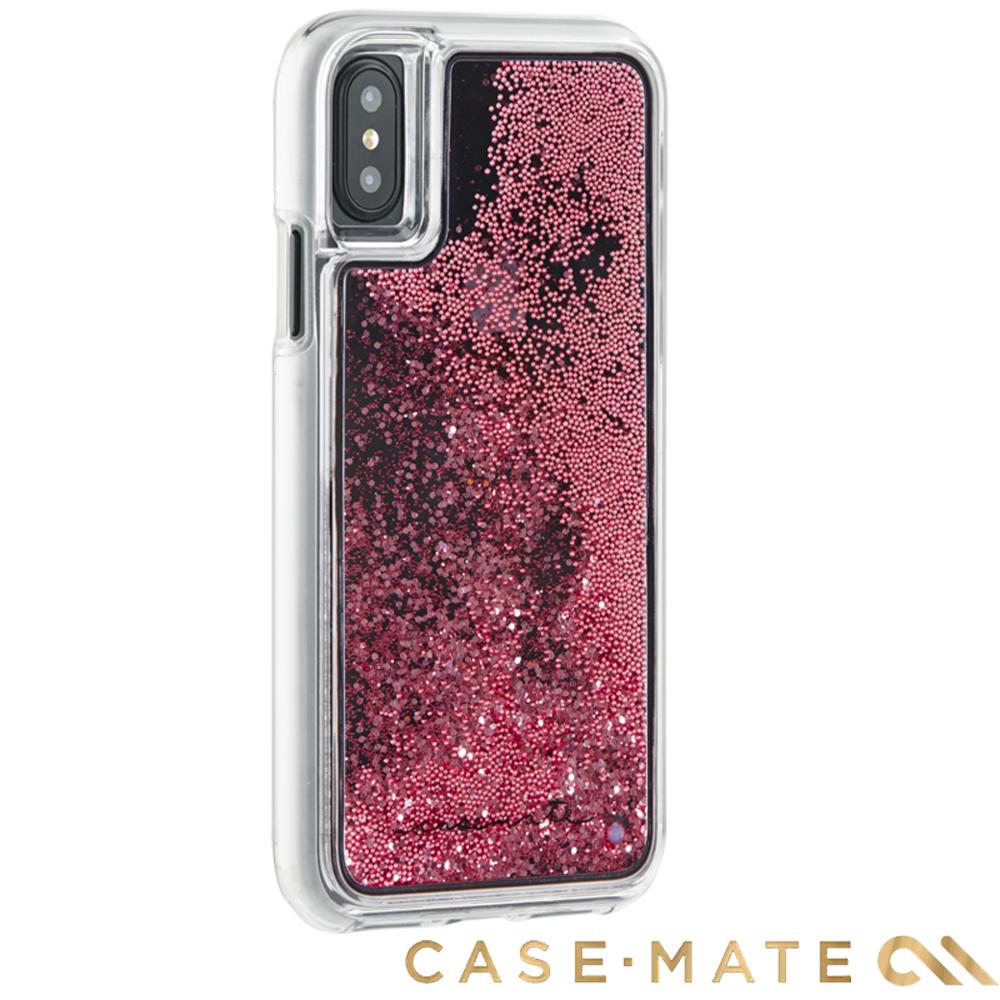 美國 Case-Mate iPhone X Waterfall 亮粉瀑布保護殼-玫瑰金