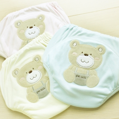 GMP BABY 舒適可愛熊超吸排純棉紗寶寶學習褲-1件