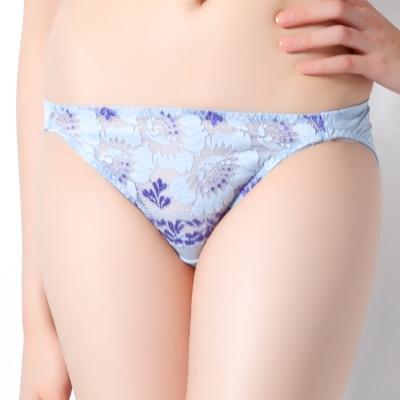 思薇爾-溝漂靚系列低腰三角褲-冬雪藍