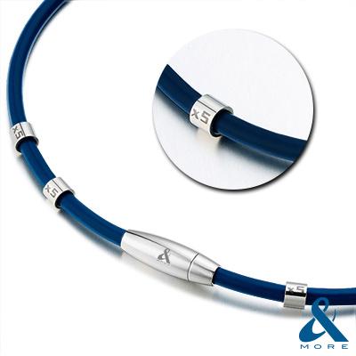&MORE愛迪莫-MEGA POWER第Ⅱ代4厘米超濃鍺鈦項鍊-特仕版(藍色)