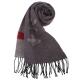 Vivienne Westwood 骷髏行星素面羊毛圍巾-深紫色 product thumbnail 1