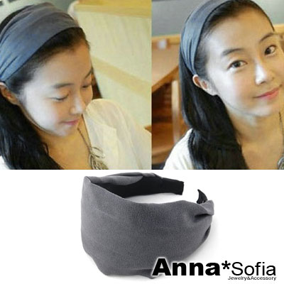 AnnaSofia-超寬麂皮絨-韓式髮箍-湮灰