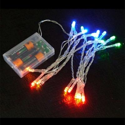 聖誕燈LED燈串20燈電池燈(四彩光/透明線)(高亮度又環保)