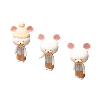 BANDAI 組裝模型 Haco Room 小熊學校 白色熊熊人物組