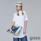 gozo復古風方格星星襯衫洋裝(二色)-動態show