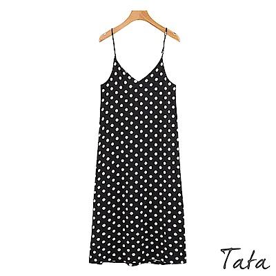 圓點吊帶洋裝 TATA