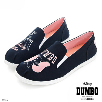 DISNEY 夢幻樂園 Dumbo馬戲團圖案懶人鞋-深藍(女)