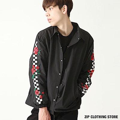 刺繡教練夾克(3色) ZIP日本男裝