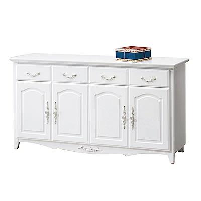 品家居 蘇珊娜5.3尺實木餐櫃下座-157.5x40x82cm免組