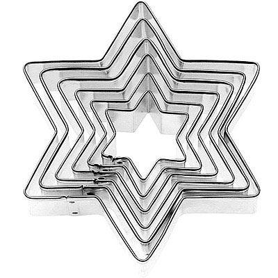 GP&me Dolce不鏽鋼大小餅乾模6件(星星)