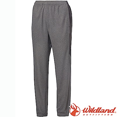 Wildland 荒野 0A61659-90灰 中性雙色透氣抗UV縮口褲