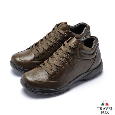 TRAVEL FOX(男)  都市舒適中筒休閒鞋-咖啡