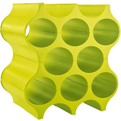 KOZIOL 自組式蜂巢酒架(綠)