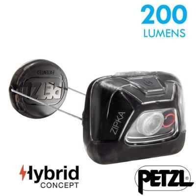【法國 Petzl】新款 ZIPKA 超輕量緊湊型頭燈(200流明)_黑