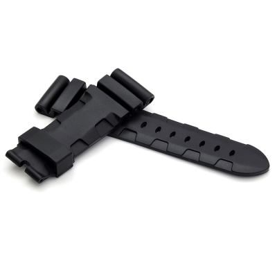 PARNIS BOX 24mm 沛納海代用 防水 矽膠錶帶 柔軟