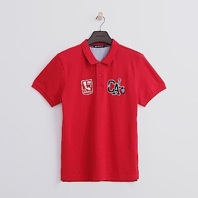 Hang Ten - 男裝 - CAL繡章POLO-紅色