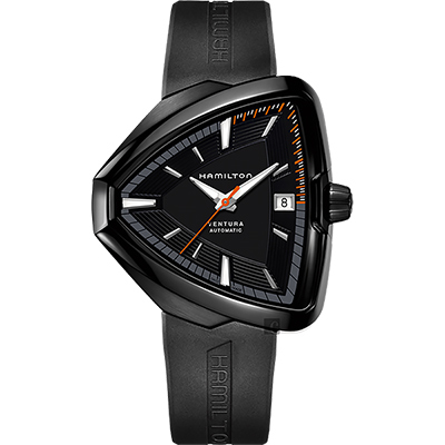 Hamilton漢米爾頓 VENTURA Elvis80 貓王80週年機械錶-黑/42mm