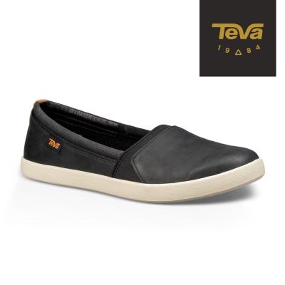 TEVA 美國-女 Willow SlipOn 真皮休閒鞋 (黑)