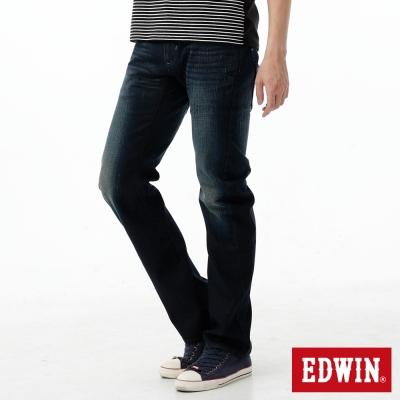 EDWIN 中直筒 E-FUNCTION 3D立體牛仔褲-男-酵洗藍
