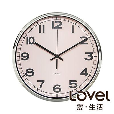 Lovel 31cm工業風鐵框魚眼鏡面靜音時鐘-共3款