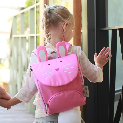 Milo& & Gabby 動物好朋友-超吸睛輕量型小童書包(LOLA兔兔)