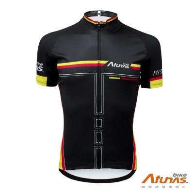 《Atunas Bike》歐都納 單車 JE17011 RACE短袖車衣 黑紅黃