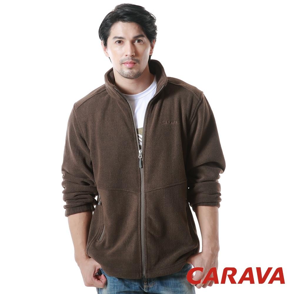 CARAVA 男保暖刷毛外套(深橄綠)