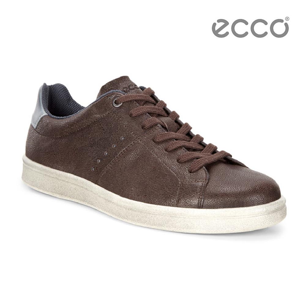 ECCO KALLUM 復古風格休閒鞋-棕