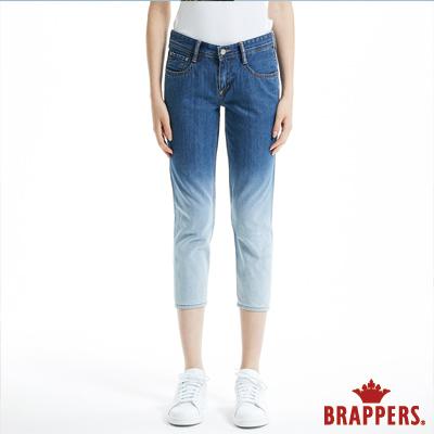 BRAPPERS 女款 Boy Friend Jeans系列-漸層八分反摺褲-淺藍