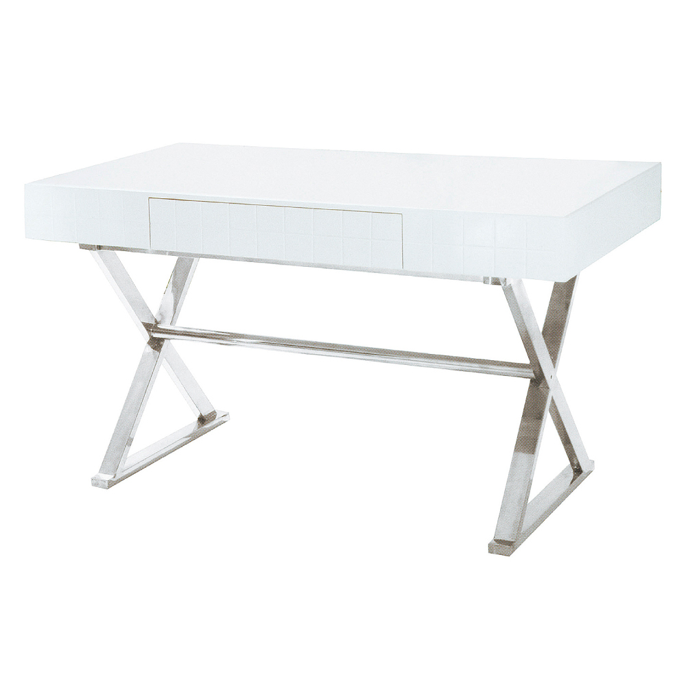 AS-愛得拉白色書桌-130x70x75cm