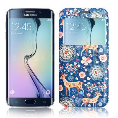 VXTRA Samsung Galaxy S6 Edge  藝術彩繪視窗皮套