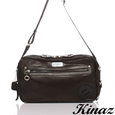 KINAZ-navy-經典至上斜背包-趣味插頭系列-特賣品