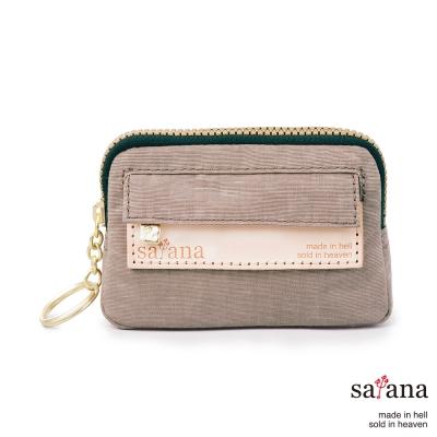 satana - 小巧鑰匙包/零錢包 - 松樹皮