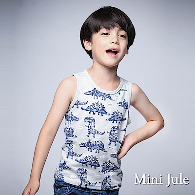 Mini Jule 童裝-背心 點點恐龍背心(杏灰)
