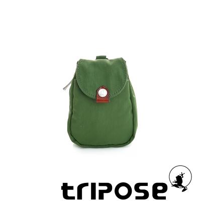 tripose 漫遊系列岩紋鑰匙零錢包- 草地綠