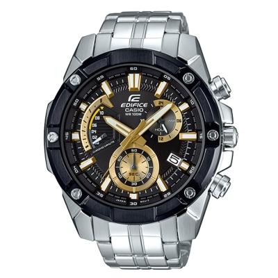 EDIFICE粗曠復古質感螺絲設計賽車計時錶(EFR-559DB-1A9)黑面X金49mm