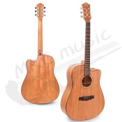 Eison 西班牙工藝 桃花心木 導圓角包邊 民謠吉他(41吋/D桶)+豪華5配件