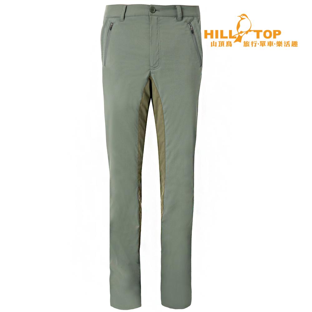 【hilltop山頂鳥】男款超潑水抗UV彈性長褲S07MA8灰綠
