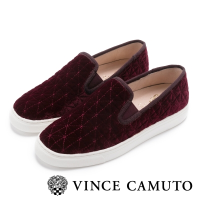 Vince Camuto 氣質UP菱格懶人便鞋-酒紅色