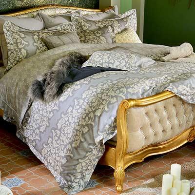 義大利La Belle 摩洛哥德 雙人天絲四件式防蹣抗菌舖棉兩用被床包組
