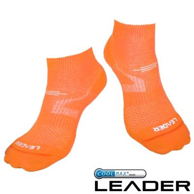 LEADER COOLMAX 女款 -運動專用薄型除臭 - 機能襪 (亮橘) - 快速到貨