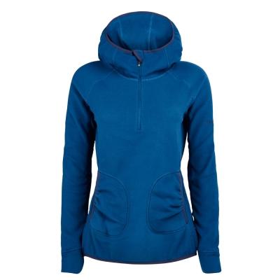 【Berghaus 貝豪斯】女款PRISM刷毛保暖連帽 上衣H51FC6藍