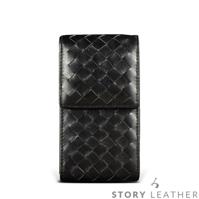 STORYLEATHER SAMSUNG S9 / S9+ 直式編織紋 客製化皮...