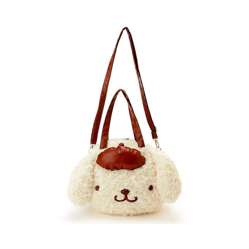 Sanrio布丁狗大臉玫瑰絨三用背包