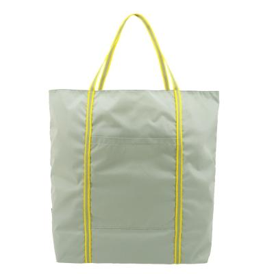 agnes b. 尼龍雙槓購物袋-灰