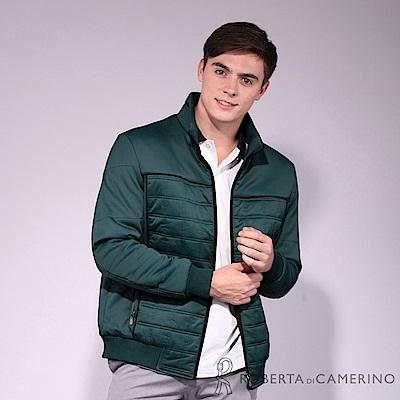 ROBERTA諾貝達 禦寒保暖 優雅品味 厚舖棉夾克外套 藍綠
