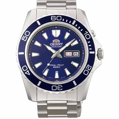 ORIENT 東方錶 深海游龍 藍水鬼 機械錶(FEM75002D)-藍/44mm